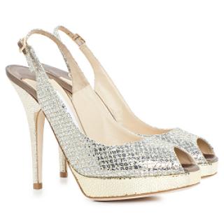 Jimmy Choo shoes 'Clue' glitter Slingback Shoes