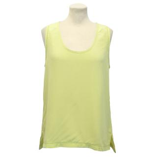 Pyrus Silk Green Vest Top
