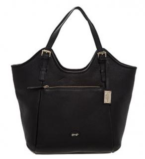 Paul Costelloe black leather tote bag