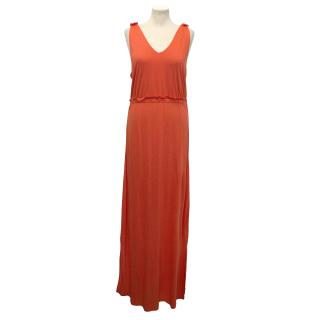 Chinti And Parker Coral Maxi Dress
