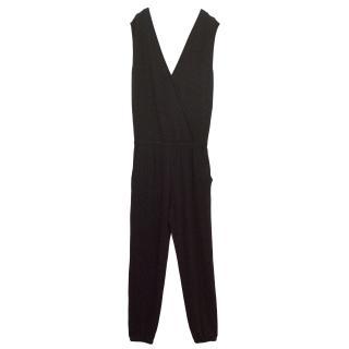Lot 78 Black Jumpsuit With Plunging Neckline