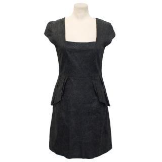 Alice By Temperley Black 'Isadora' Snake Effect Leather Dress