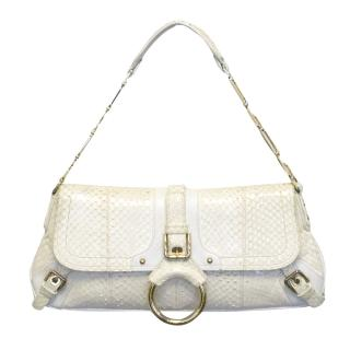 Dolce & Gabbana Cream Snake Skin Shoulder Bag