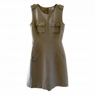 Calvin Klein Military Style Sleeveless Dress