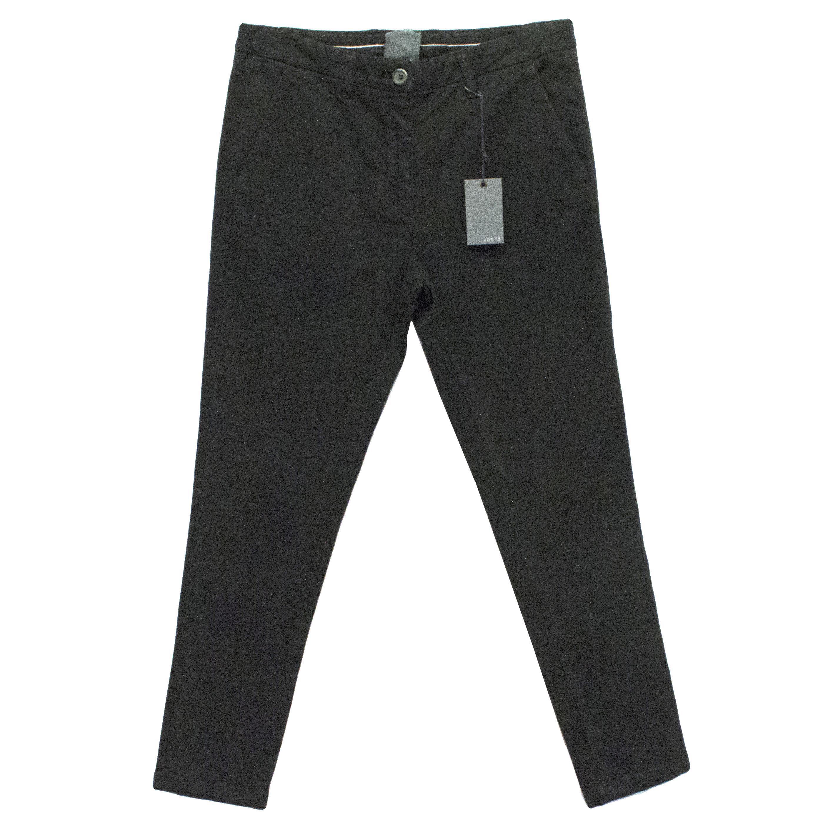 Lot78 Black Chino Trousers