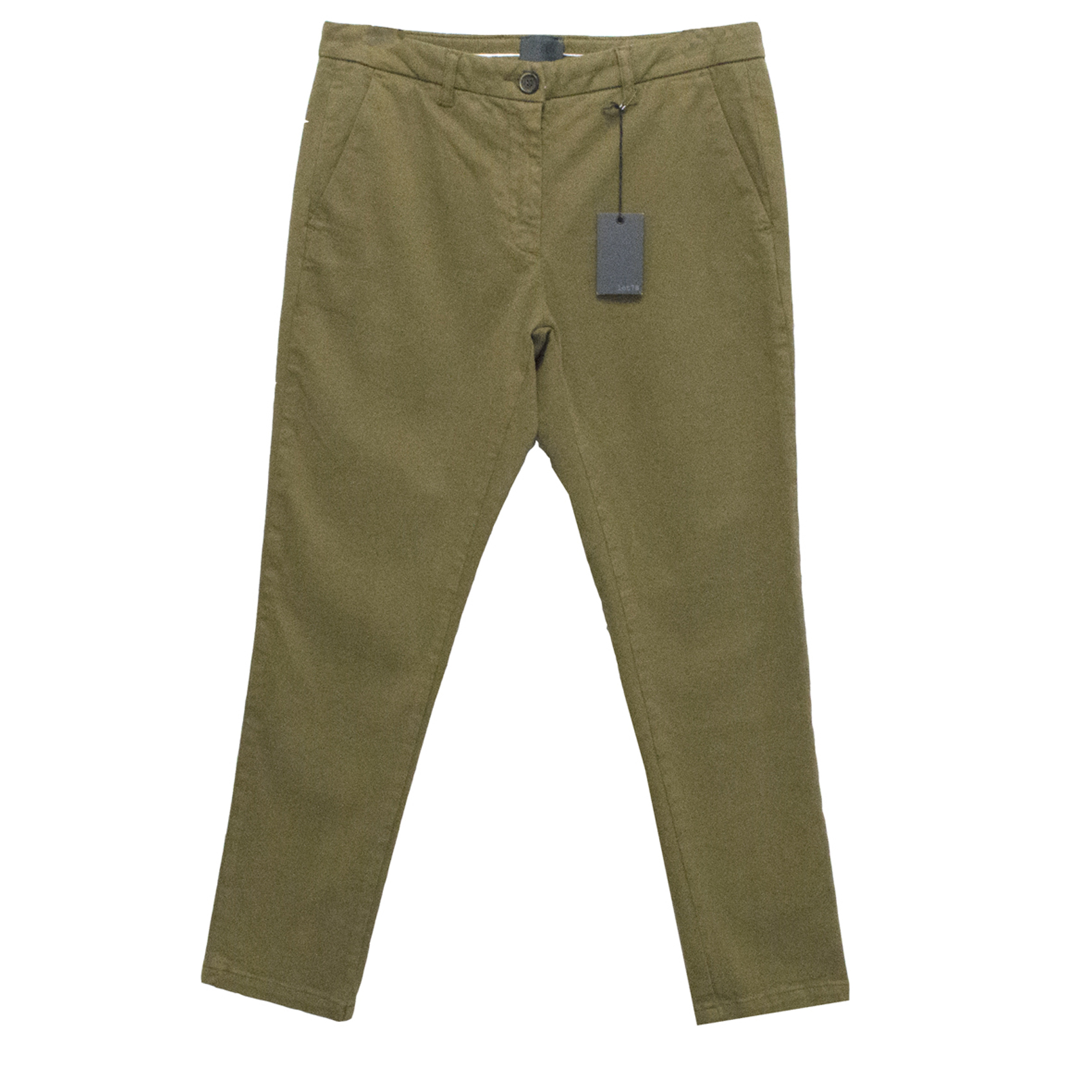 Lot 78 Khaki Moss Green Chino Trousers