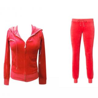 Juicy Couture Red Velour tracksuit