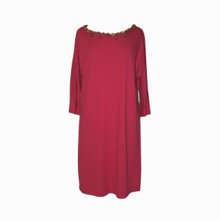 Jaeger bright pink tunic dress. size M