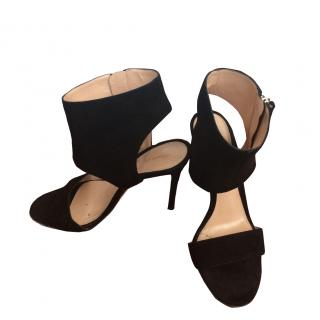 Gianvito Rossi black suede shoes
