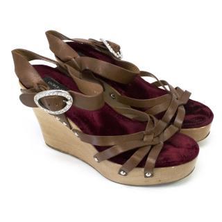 Dolce & Gabbana Brown Wedges