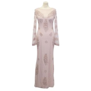 Alice by Temperley  Dusty Rose Lace Maxi Dress