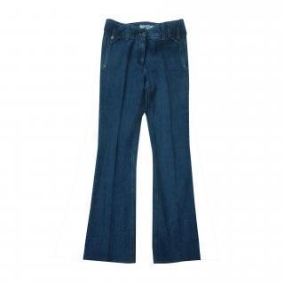 Yves Saint Laurent Flared Jeans with YSL Logo on back pocket