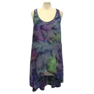 This Is A Love Song Tie-Dye Effect Long Vest Top