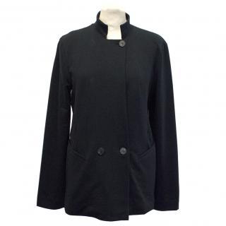 Denham Black Cotton Blazer With Two Button Fastening