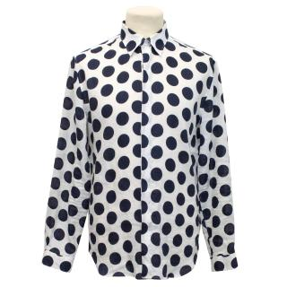 Burberry Prorsum Cotton Polka Dot Shirt