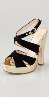 Jerome C. Rousseau Black Suede Sandals