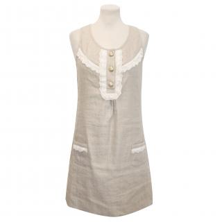 Juicy Couture Antique Gold Dress with Lace Detailing