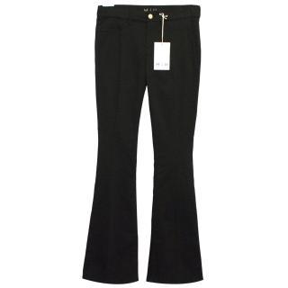 Mih Skinny Marrakesh Black Mid Rise Flared Jeans
