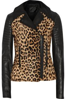 A.L.C. Leopard Print Leather Jacket