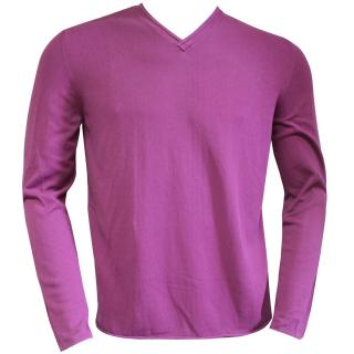 Falke Cotton v-neck purple sweater