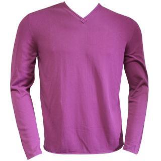 Falke Cotton v-neck purple sweater