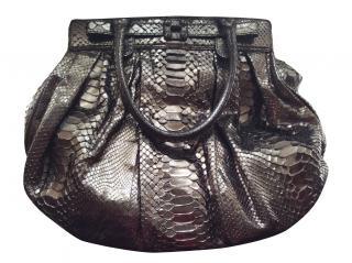 Zagliana Puffy Python Bag