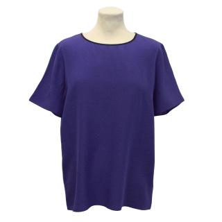 Paul Smith Black Blue Silk Top