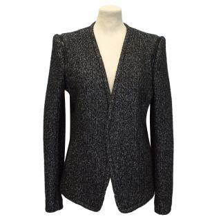 Theory Black and White Wool Mix Blazer