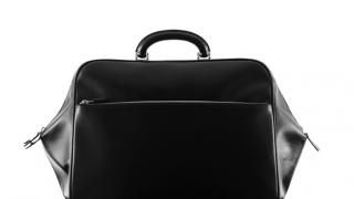 Valextra Linea S Men's Black Travel bag