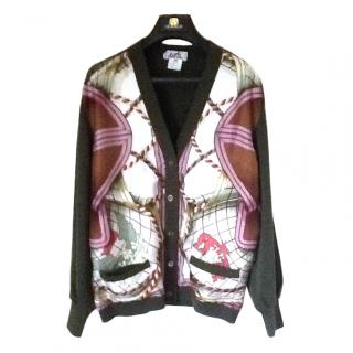 Hermes Silk and Wool Cardigan