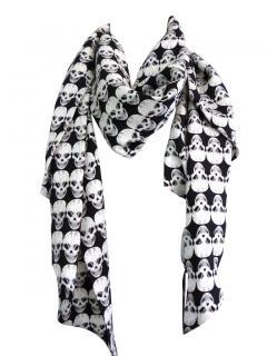 Thomas Wylde iconic skull print silk scarf
