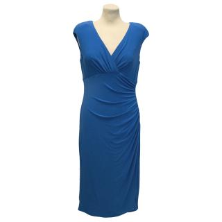 Lauren by Ralph Lauren Blue Dress With Ruched Detailing