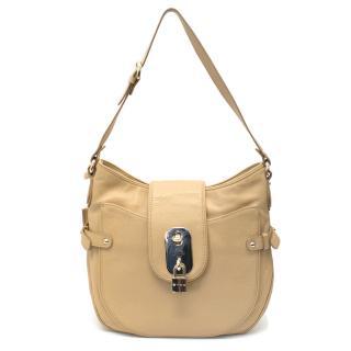 Etro Beige Leather Shoulder Bag
