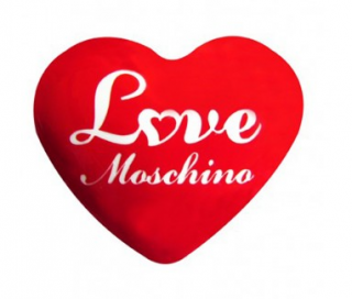 Moschino Red Heart Brooch