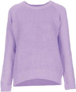 Topshop Purple Knitted Mix Stich Jumper