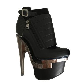 Versace Metal Heeled Ankle Boots