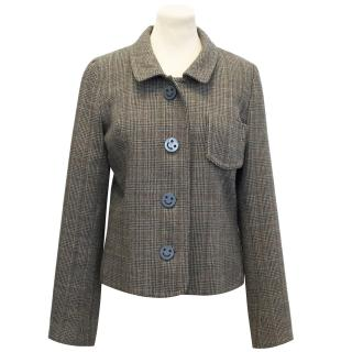 Luella Wool Tweed Jacket With Smiley Face Buttons