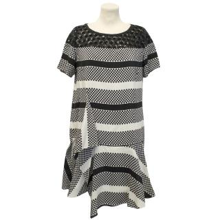 Thakoon Addition Black and White Silk Dress