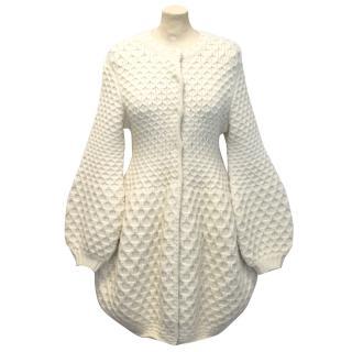 Alexander McQueen Honeycomb Knitted Wool Cardigan