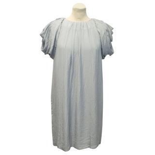 Prada Blue/Grey Pleated Dress