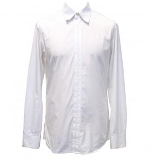Alexander McQueen White Cotton And Grosgrain Shirt