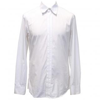 Alexander McQueen White Cotton And Grosgrain Shirt