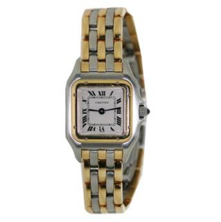 Cartier  Vintage Three Row Gold Panthere Watch