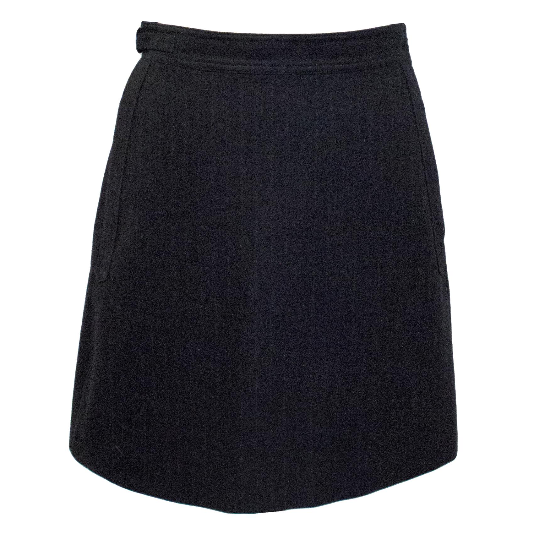 A.P.C Grey Pinstripe Wool Skirt