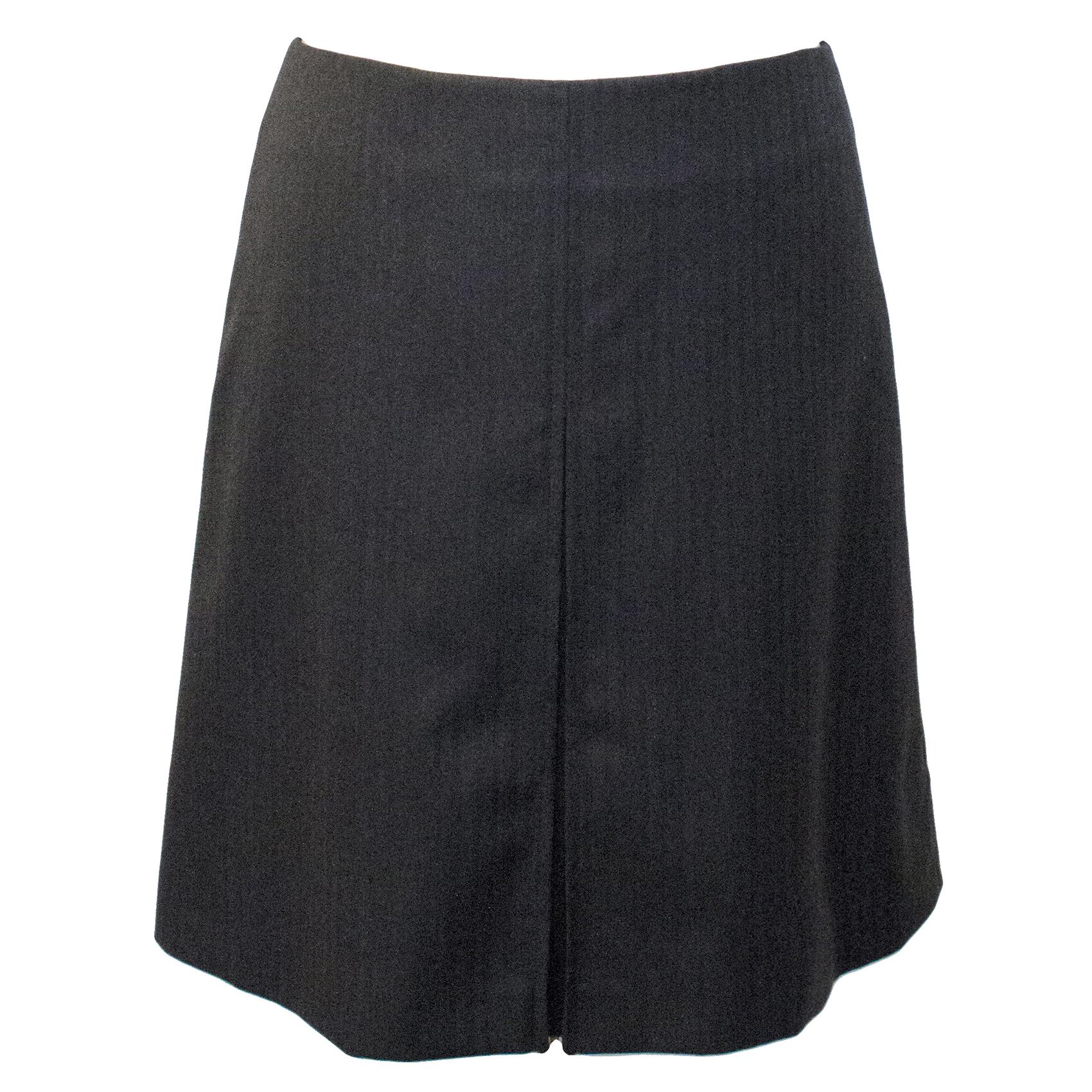 A.P.C. Grey Wool A-Line Skirt