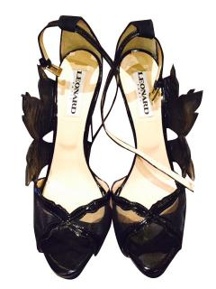 Leonard Spring/Summer 2013 black ankle strap shoes