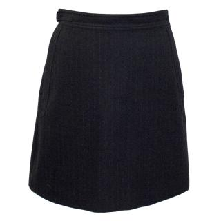 A.P.C Grey Pinstripe Wool Skirt