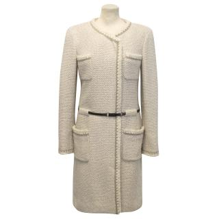 Chanel Cream and Beige Long Coat