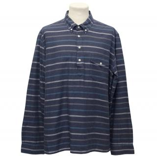 J.Crew Blue Patterned Stripe Long Sleeve Shirt