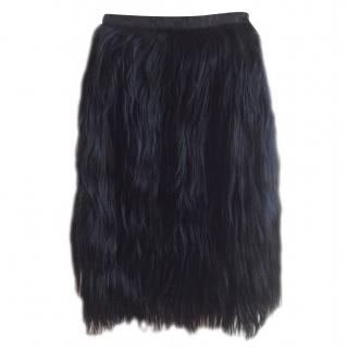 Mulberry Mongolian fur skirt from the catwalk collection.